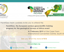 Update about the PanAfGeo project – Presence at the Mining Indaba conference