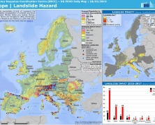 Visibility for the European Landslide Density Map