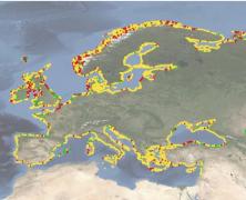 First pan-European shoreline-migration map since 2004