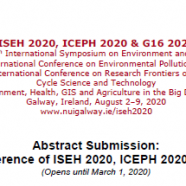 Joint Conference of ISEH 2020, ICEPH 2020 & G16 2020